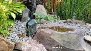 вода-прудик в камне