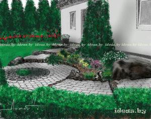 скетчи-природа-ландшафтный проект Минск