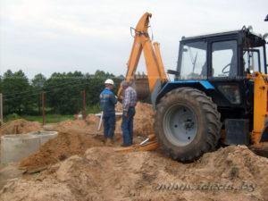 земляные и дренажные работы