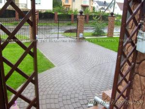 укладка тротуарной плитки и борта в Минске