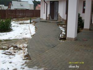 укладка тротуарной плитки минск