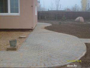 укладка тротуарной плитки-благоустройство минск