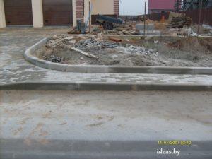 благоустройство участка-дорожный борт минск