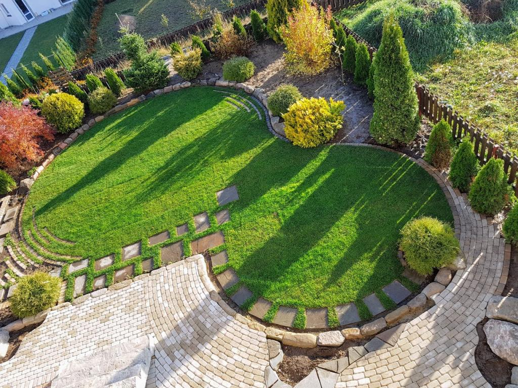проекты ландшафтного дизайна двора фото