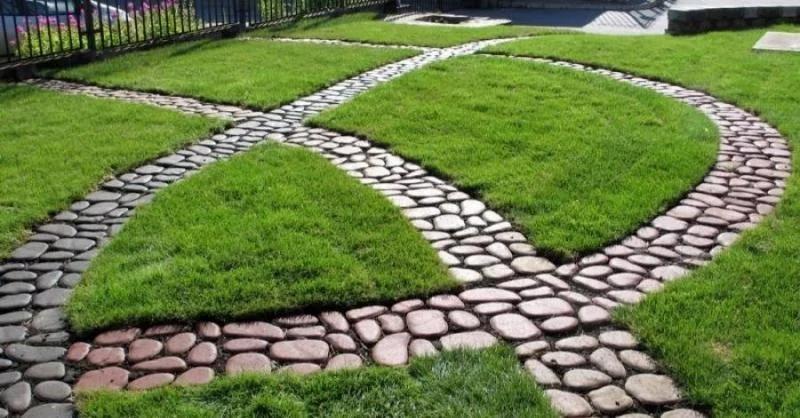 тротуарная плитка дизайн двора, статья фото, планы