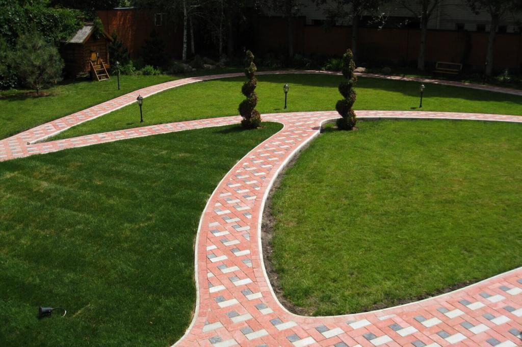 тротуарная плитка дизайн двора фото